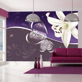Φωτοταπετσαρία - Lily in shades of violet
