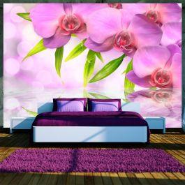 Φωτοταπετσαρία - Orchids in lilac colour