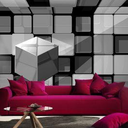 Φωτοταπετσαρία - Rubik's cube in gray