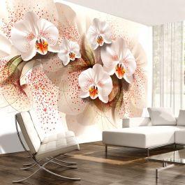 Φωτοταπετσαρία - Pale yellow orchids