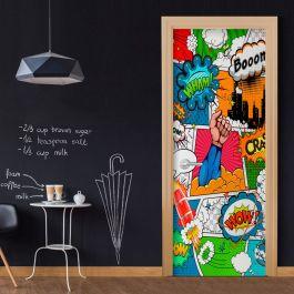 Φωτοταπετσαρία πόρτας - Comic World