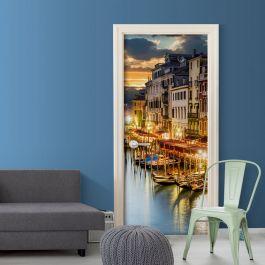 Φωτοταπετσαρία πόρτας - Venetian Harbour