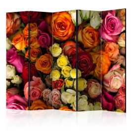 Διαχωριστικό με 5 τμήματα - Bouquet of Roses II [Room Dividers]