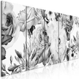 Πίνακας - Rose Composition (5 Parts) Narrow Black and White
