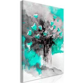 Πίνακας - Bouquet of Colours (1 Part) Vertical Green