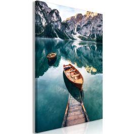Πίνακας - Boats In Dolomites (1 Part) Vertical