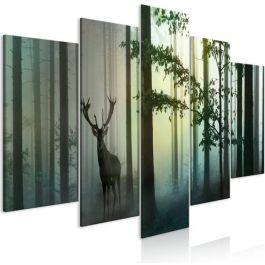 Πίνακας - Morning (5 Parts) Wide Green