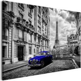 Πίνακας - Car in Paris (1 Part) Blue Wide