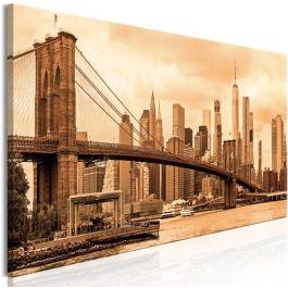 Πίνακας - Road to Manhattan (1 Part) Narrow Sepia