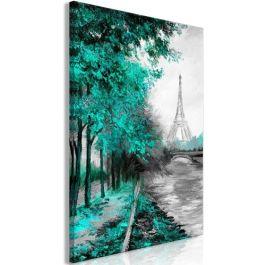 Πίνακας - Paris Channel (1 Part) Vertical Green