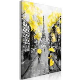 Πίνακας - Paris Rendez-Vous (1 Part) Vertical Yellow