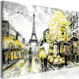 Πίνακας - Colourful Rendez-Vous (1 Part) Wide Yellow