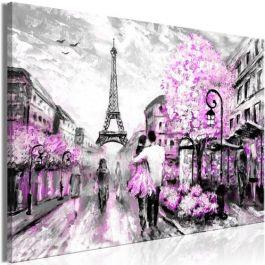 Πίνακας - Colourful Rendez-Vous (1 Part) Wide Pink