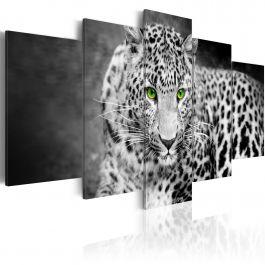 Πίνακας - Leopard - black&white