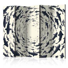 Διαχωριστικό με 5 τμήματα - Fish Swirl II [Room Dividers]