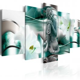 Πίνακας - Buddha and lilies