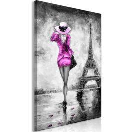 Πίνακας - Parisian Woman (1 Part) Vertical Pink
