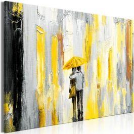 Πίνακας - Umbrella in Love (1 Part) Wide Yellow