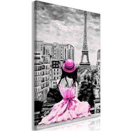 Πίνακας - Paris Colour (1 Part) Vertical Pink