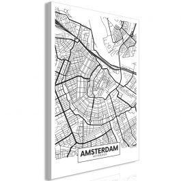 Πίνακας - Map of Amsterdam (1 Part) Vertical