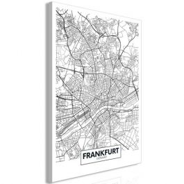Πίνακας - Map of Frankfurt (1 Part) Vertical