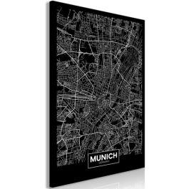 Πίνακας - Dark Map of Munich (1 Part) Vertical