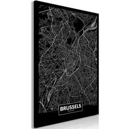 Πίνακας - Dark Map of Brussels (1 Part) Vertical