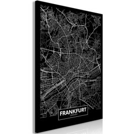 Πίνακας - Dark Map of Frankfurt (1 Part) Vertical