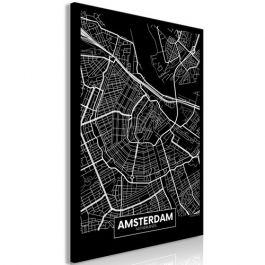 Πίνακας - Dark Map of Amsterdam (1 Part) Vertical