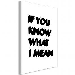 Πίνακας - If You Know What I Mean (1 Part) Vertical