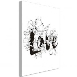 Πίνακας - Love With Flowers (1 Part) Vertical