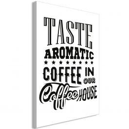 Πίνακας - Taste Aromatic Coffee in Our Coffee House (1 Part) Vertical