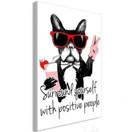 Πίνακας - Surround Yourself With Positive People (1 Part) Vertical