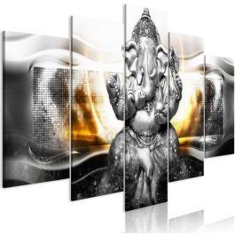 Πίνακας - Buddha Style (5 Parts) Silver Wide
