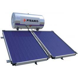 Ηλιακός θερμοσίφωνας Pyramis 160lt επιλεκτικού συλλέκτη διπλός