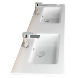 Νιπτήρας Flat διπλός Bianco Ceramica