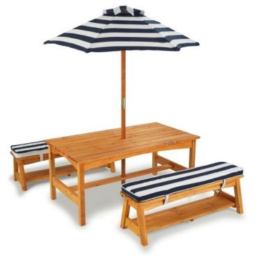 Σετ Κήπου KidKraft Table, Bench and Umbrella