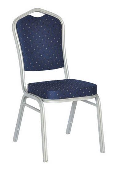 Καρέκλα Hilton-Μπλε / Ασημί