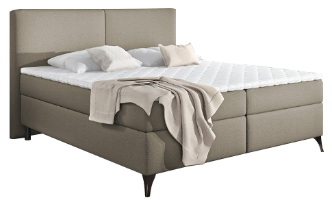 Επενδυμένο κρεβάτι Clark με στρώμα και ανώστρωμα