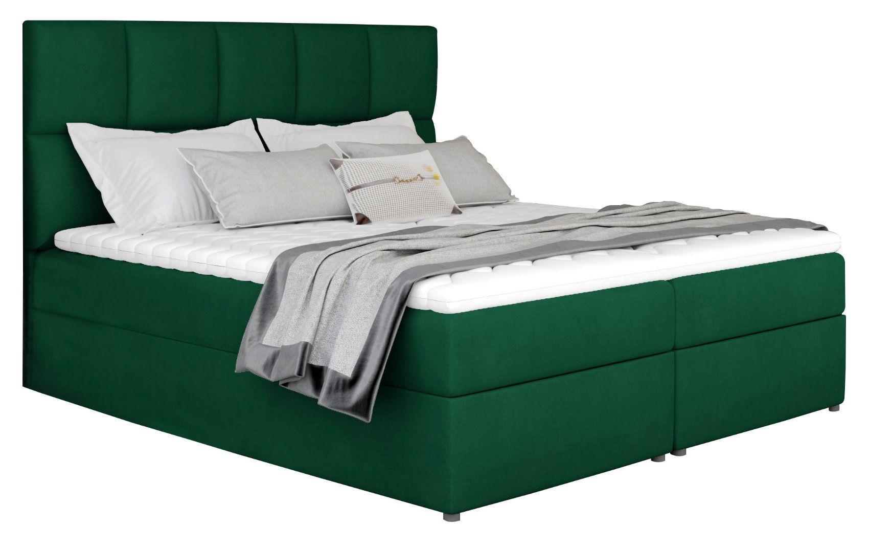 Επενδυμένο κρεβάτι Godleave-160 x 200-Prasino