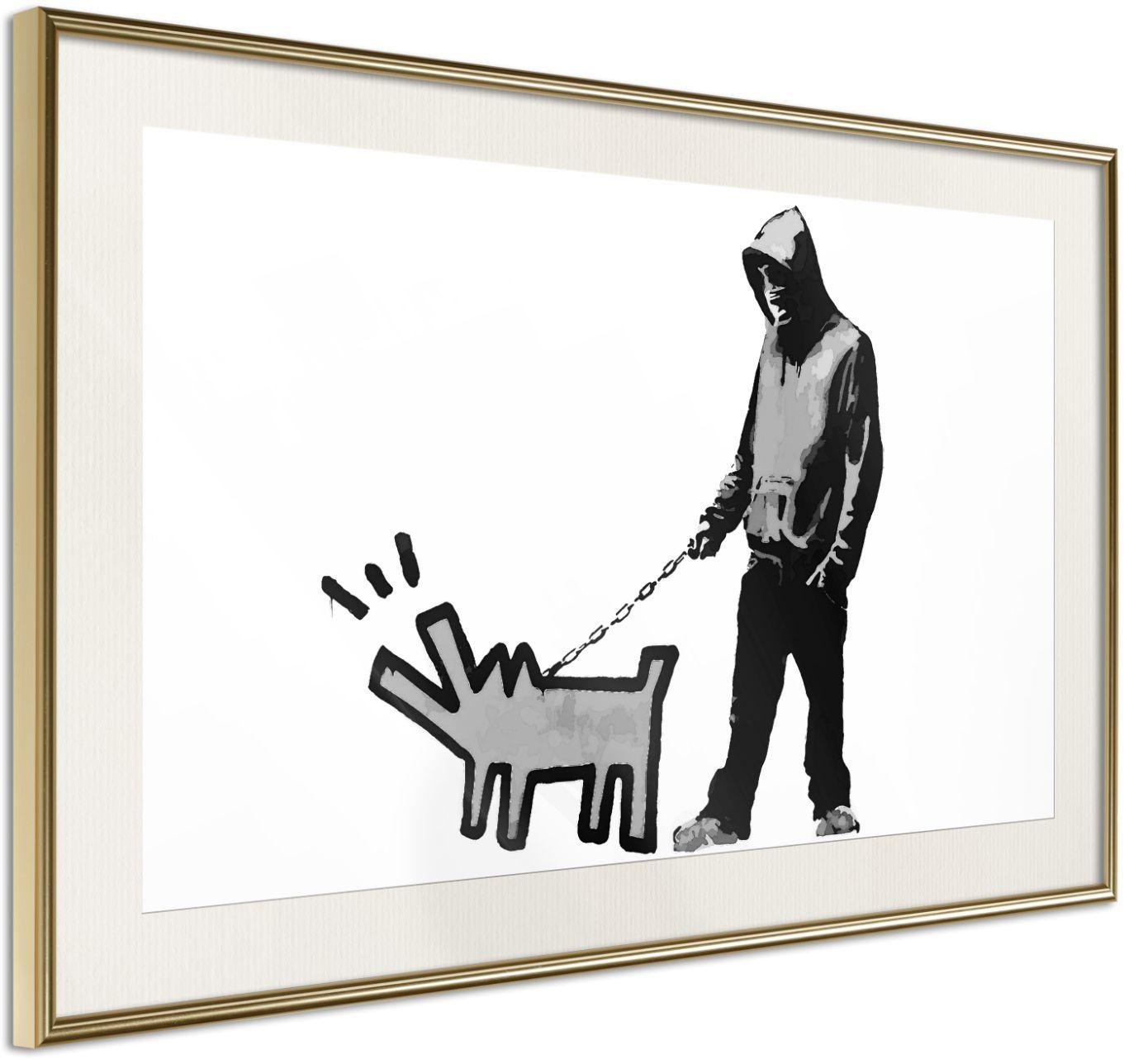 Αφίσα - Banksy: Choose Your Weapon - 45x30 - Χρυσό - Με πασπαρτού