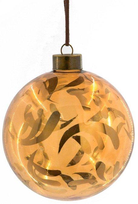 """Χριστουγεννιάτικη μπάλα """"Χρυσά Φύλλα"""""""