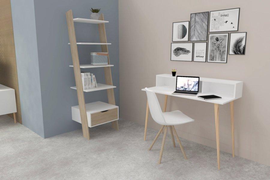 Σύνθεση γραφείου Nordik τεμάχια 2 Γραφείο Nordik Βιβλιοθήκη Nordik