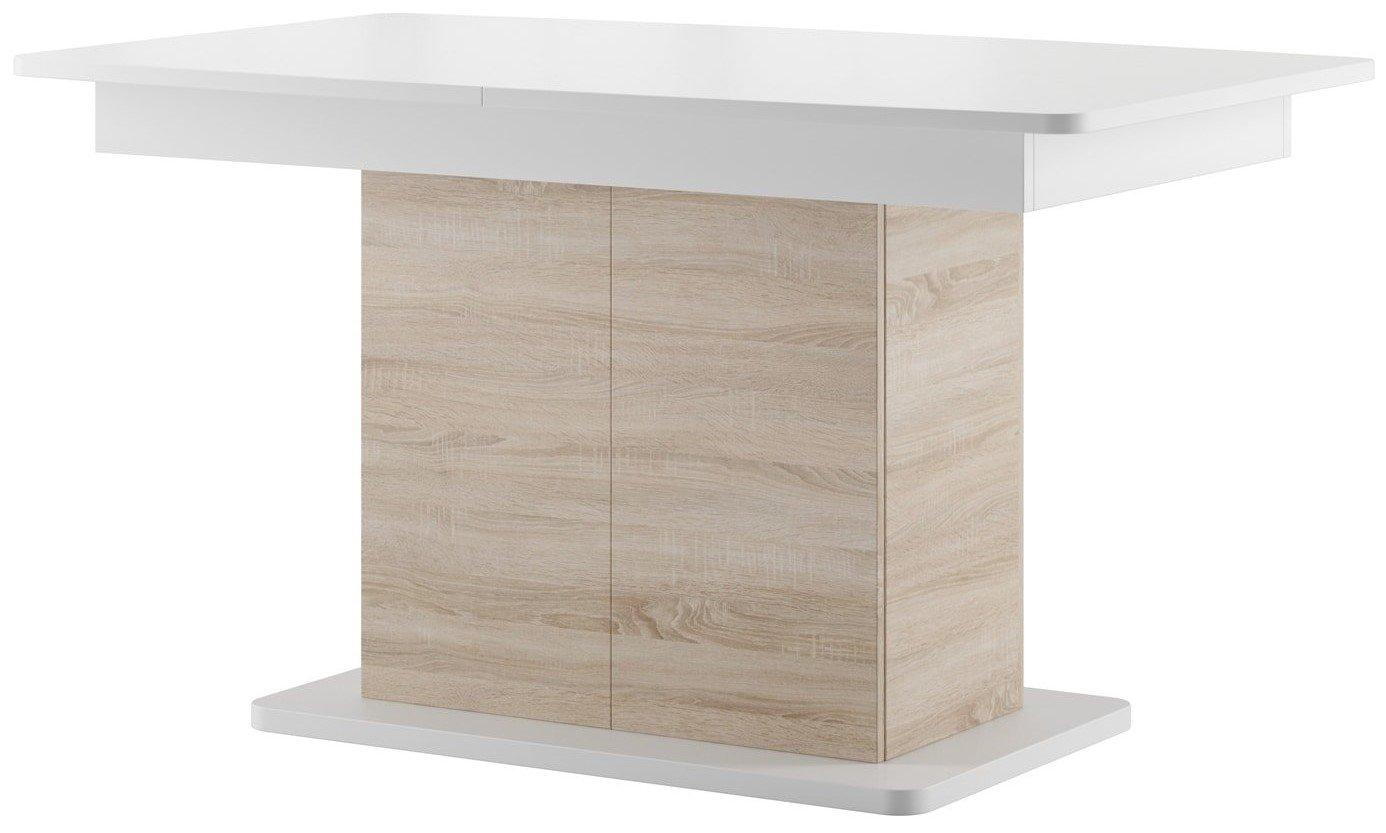 Τραπέζι Videtta επεκτεινόμενο-Φυσικό – Λευκό