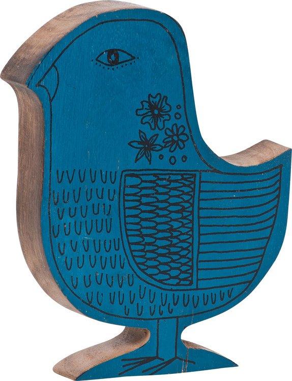 Διακοσμητική φιγούρα Blue Bird (Μήκος: 14 Βάθος: 3 Ύψος: 18)